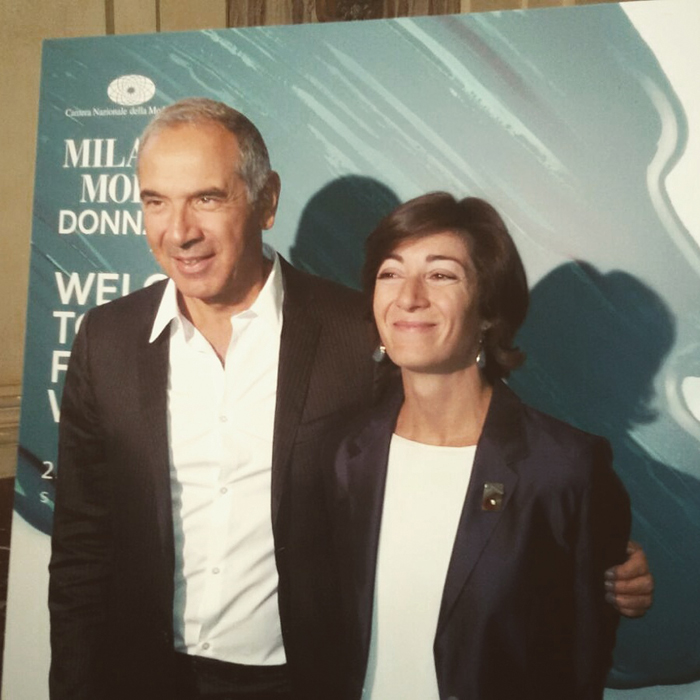 Carlo Capasa e Cristina Tajani