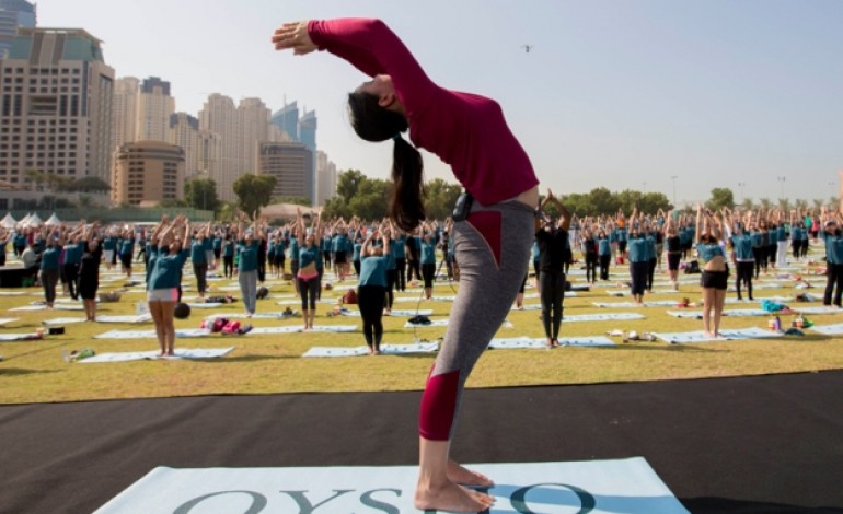 Yoga nel parco con Oysho