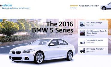 Amazon lancia piattaforma dedicata all'auto