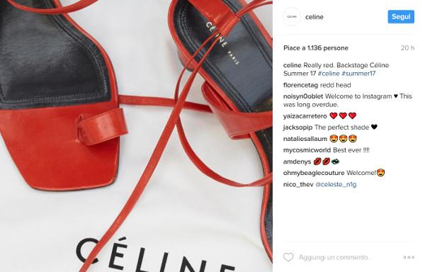 E, finalmente, Céline andò su Instagram