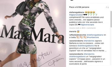 """Gabbana accusa Max Mara su Instagram: """"Vergognatevi copioni"""""""