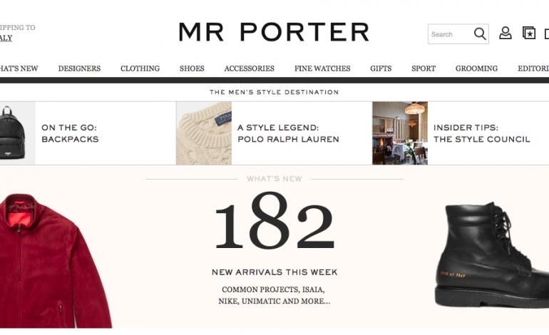 Mr Porter lancia Mr P, la sua prima private label
