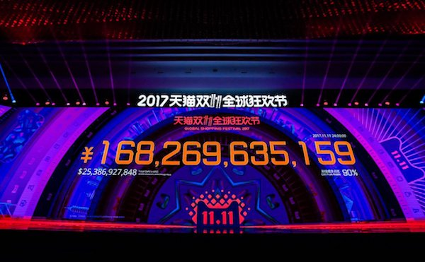 Alibaba spinge il single day oltre i 25 mld $