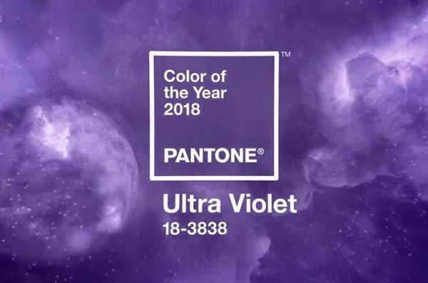 Pantone, è l'Ultra Violet il colore del 2018