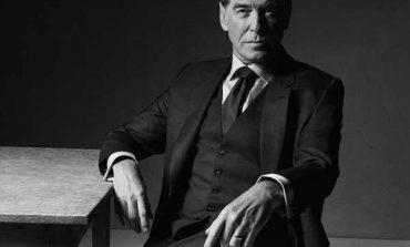 Pierce Brosnan in bianco e nero per Brioni