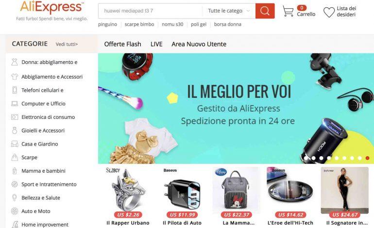 La Cina è già qui online: AliExpress sbarca in Italia