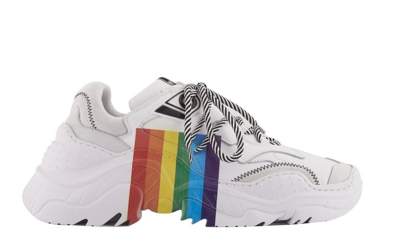 N°21 colora di arcobaleno le sneakers Billy