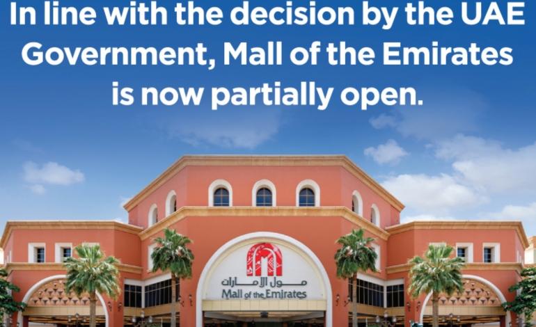 Mall of Emiratesriapre con orario ridotto