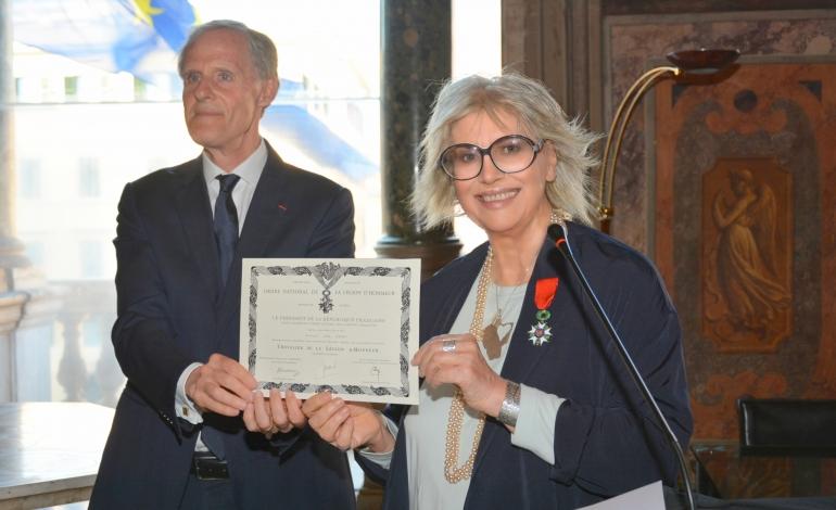 Alda Fendi insignita della Legion d'honneur