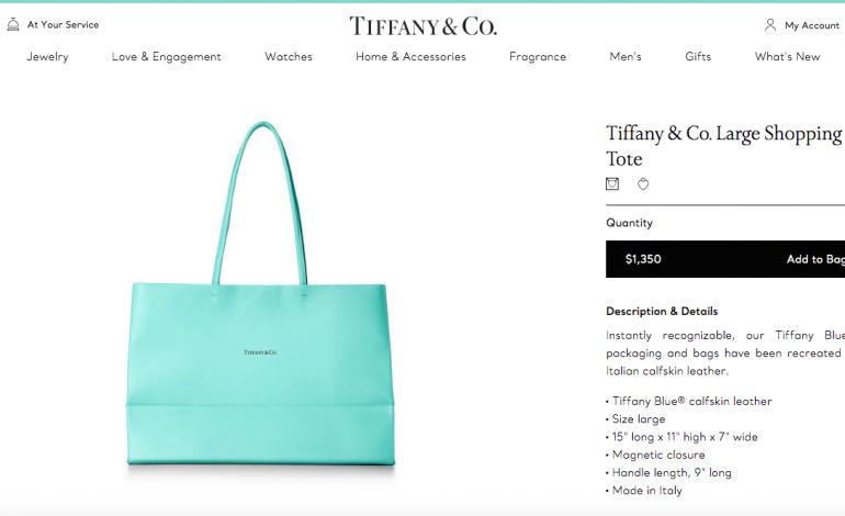 La shopping bag Tiffany, da gadget a prodotto