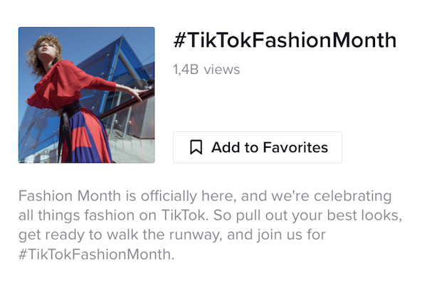 TikTok lancia il suo 'mese della moda'