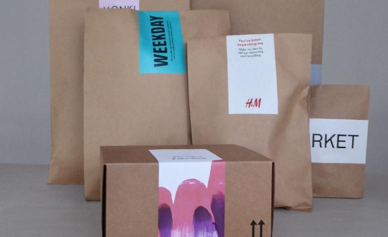 H&M inizia a utilizzare imballaggi di carta
