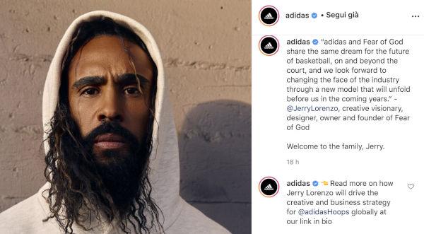 Adidas 'gioca' a basket con Fear of God