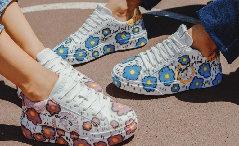 Mirko Baldini personalizza le sneakers di Pollini