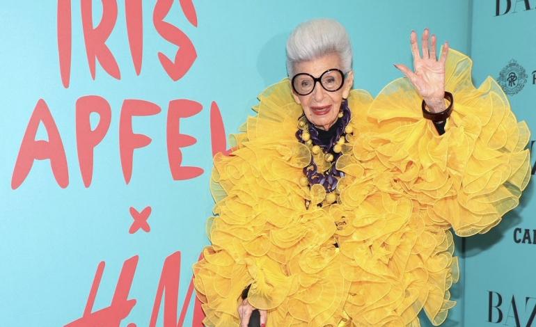 H&M firma una capsule con la centenaria Iris Apfel