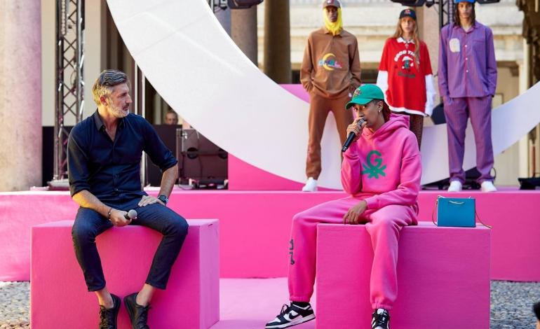 Benetton inaugura la fashion week con Ghali