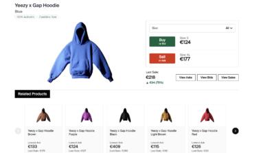 Yeezy x Gap in testa allo streetwear su Stockx